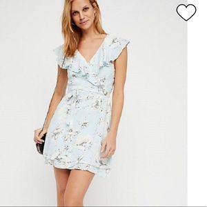 Free People Blue French Quarter Wrap Dress